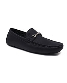 Men's Moccasin Loafers with Center Buckle