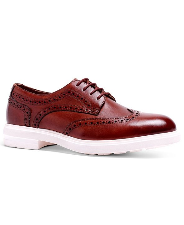 Anthony Veer Men's Harrison Hybrid Wingtip Lace-Up Casual Oxford Dress Shoes