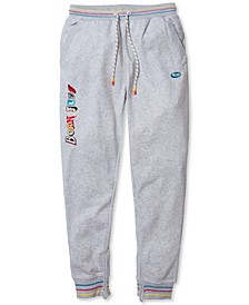 Men's Big & Tall Chess Embroidered Jogger Pants