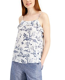 Printed Toile Ruffled Camisole Top, Created for Macy's