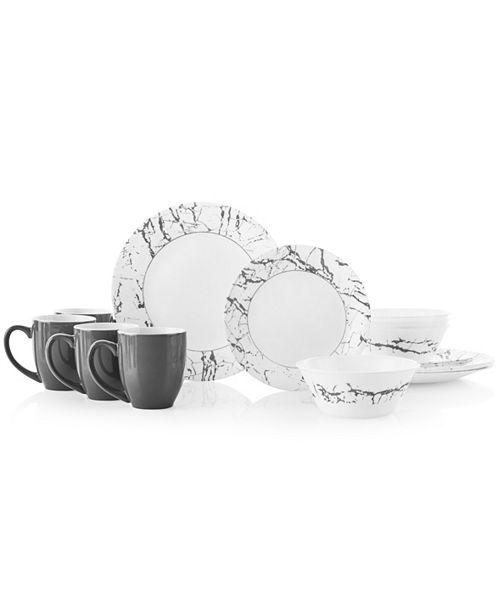 Corelle Stone Grey 16pc Dinnerware Set