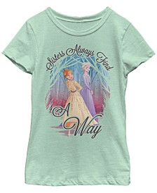 Big Girls Frozen 2 Sisters Over Misters Short Sleeve T-shirt