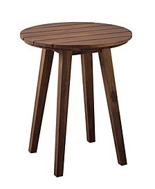 """20"""" Acacia Wood Outdoor Round Side Table"""