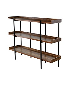 Modern Wood and Steel 3 Shelf Display