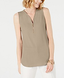 Sleeveless Zip Top, Created for Macy's