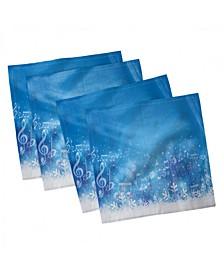 "Winter Set of 4 Napkins, 12"" x 12"""