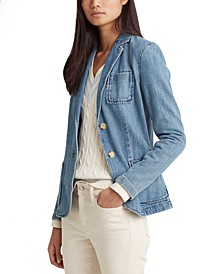 Cotton Denim Blazer