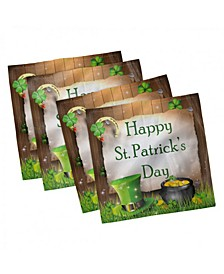 "St. Patrick's Day Set of 4 Napkins, 12"" x 12"""