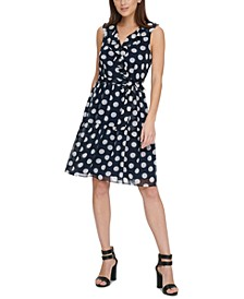 Polka-Dot Ruffled Dress