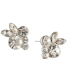 Crystal Floral Cluster Stud Earrings
