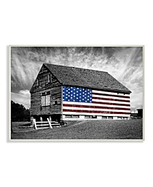 "Farmhouse Barn American Flag Wall Plaque Art 12.5"" L x 0.5"" W x 18.5"" H"