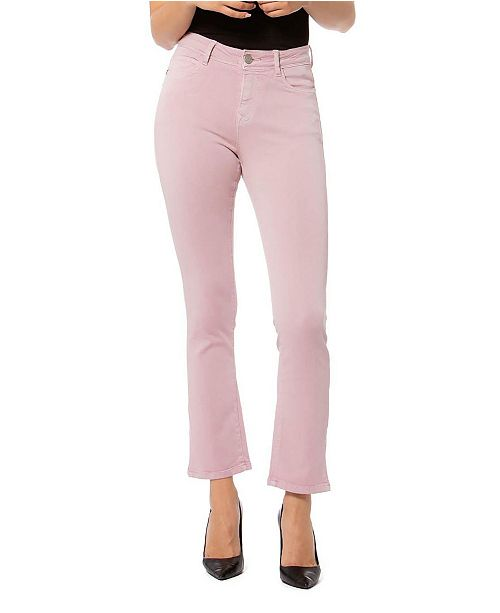 Lola Jeans High Rise Straight Crop Denim