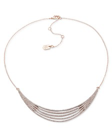 "Pavé Multi-Row Statement Necklace, 16"" + 3"" extender"