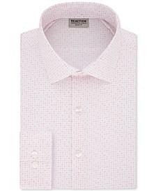 Men's Slim-Fit All Day Flex Performance Stretch Geo Dot-Print Dress Shirt