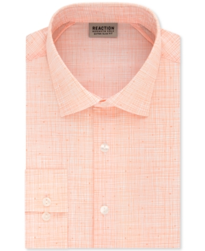Kenneth Cole Reaction Men's Extra-Slim Fit Non-Iron Stretch Streaky Dress Shirt