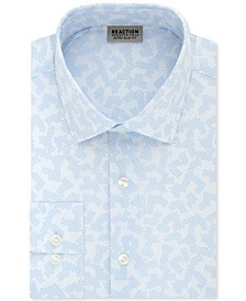 Men's Extra-Slim Fit Non-Iron Stretch Dot Camo Print Dress Shirt