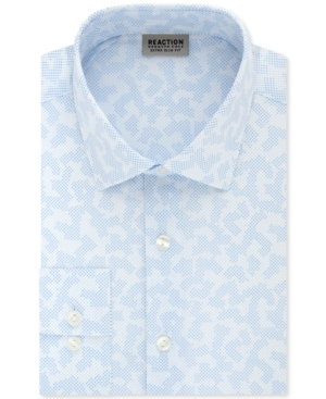 Kenneth Cole Reaction Men's Extra-Slim Fit Non-Iron Stretch Dot Camo Print Dress Shirt