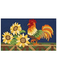 "Hand Hooked Rooster 18""x 30"" Accent Rug"