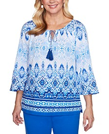 Laguna Beach Cotton Batik Biadere Woven Shirt