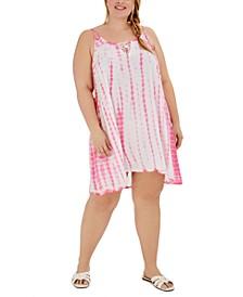 Plus Size Tie-Dye Dress Swim Cover-Up