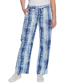 Shibori Wide-Leg Pants