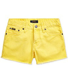 Big Girls Polo Cotton Denim Shorts