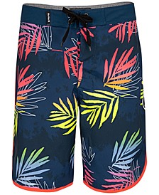 Big Boys Palm-Print Board Shorts