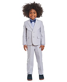 Little Boys 4-Pc. Gray Oxford Suit Set