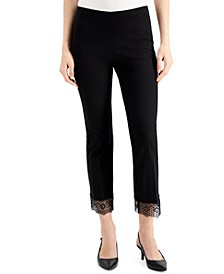 Lace-Hem Ankle Pants, Created for Macy's