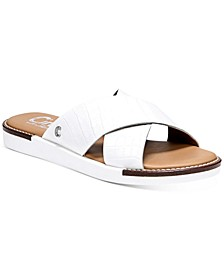Women's Lux Cross-Band Flat Sandals