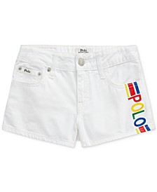 폴로 랄프로렌 Polo Ralph Lauren Big Girls Polo Cotton Denim Shorts,Myra Wash