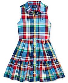 Toddler Girls Cotton Madras Shirtdress