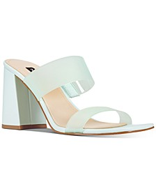 Gya Semi-Opaque High-Heel Mule Sandals
