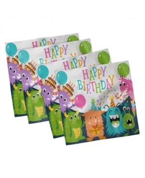 Ambesonne Birthday Party Set of 4 Napkins, 18