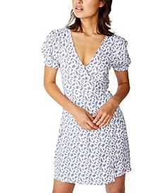 Woven Amy Wrap Mini Dress