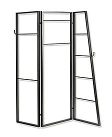 Mobile Wardrobe 3 Panel 6' Coatrack Screen