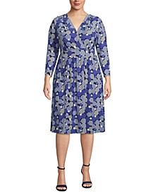 Plus Size Surplice A-Line Dress
