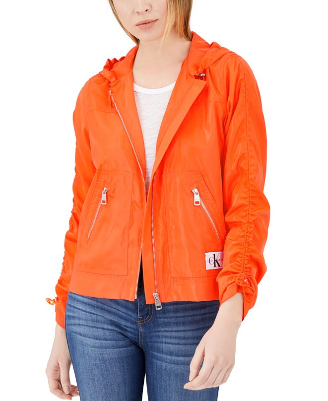 Calvin Klein Jeans Zip-Up Rain Jacket