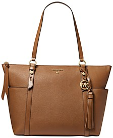 Nomad Large Leather Top Zip Tote
