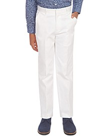 Big Boys Stretch White Twill Suit Pants