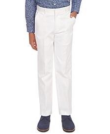 Big Boys Stretch White Twill Suit Pants