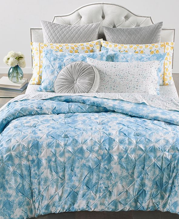Martha Stewart Collection Pleated Tie Dye Bedding Collection