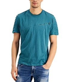 INC Men's Moto Sleeve T-Shirt, Created for Macy's
