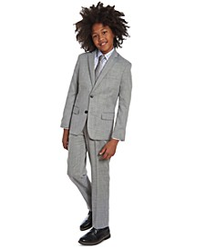Big Boys Etched Grid Tie & Stretch Dobby Suit Separates