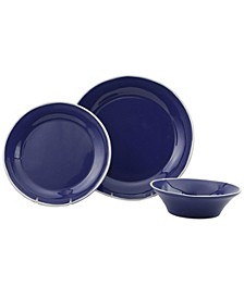 Chroma Blue 3-Piece Place Setting