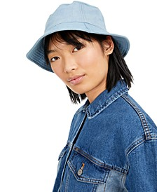 Cotton Denim Bucket Hat