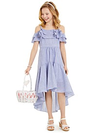 Big Girls High-Low Chambray Dress