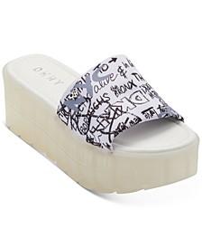 Clear Platform Slide Flatform Sandals