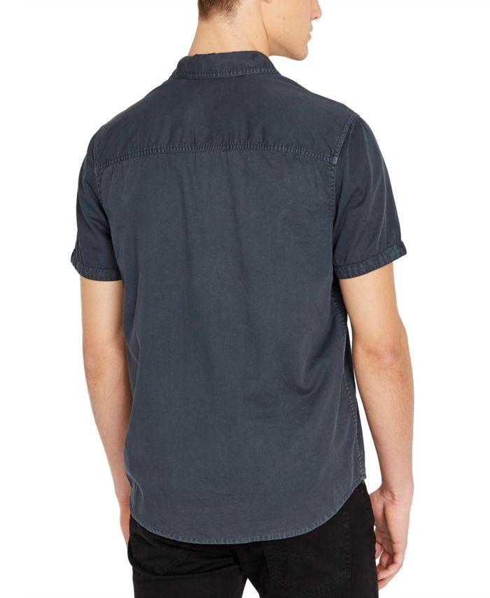 Buffalo David Bitton Men's Silous Denim Woven Short Sleeve Shirt & Reviews - Casual Button-Down Shirts - Men - Macy's