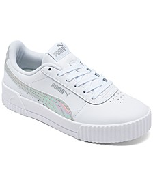 Big Girls Carina Iridescent Casual Sneakers from Finish Line